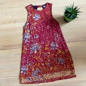 UO Ecote floral red shift mini dress